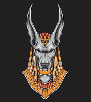 Anubis vector kunst