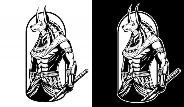 Anubis zwart en wit