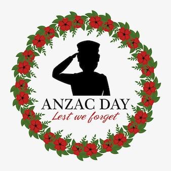 Anzac dag poster met militaire soldaat