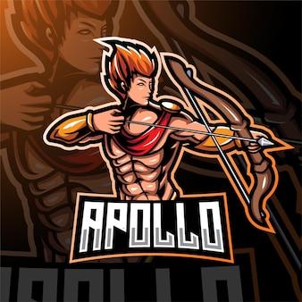 Apolo esport mascotte logo ontwerp