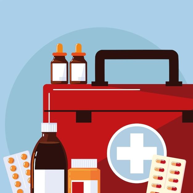 Apotheek kit medicijnen