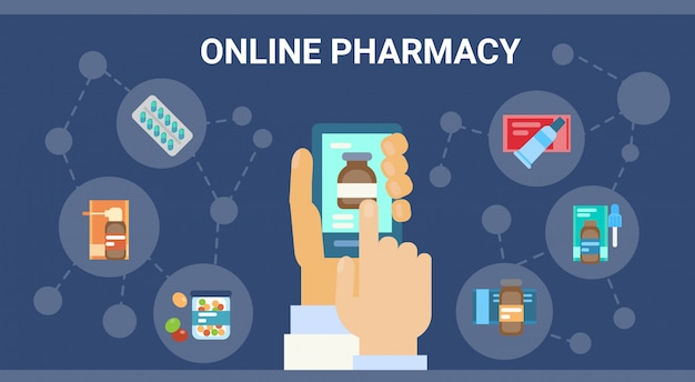 Apotheek online medisch consult arts gezondheidszorg klinieken ziekenhuisdienst geneeskunde netwerkbanner