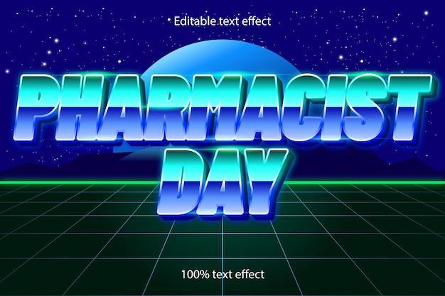 Apothekersdag bewerkbaar teksteffect retrostijl