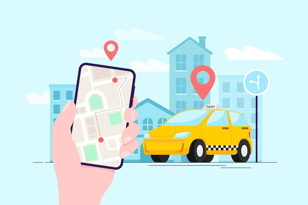 App-concept voor taxi