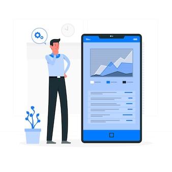 App data concept illustratie
