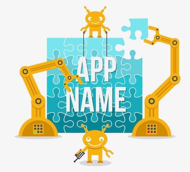 App-illustratie bouwen.