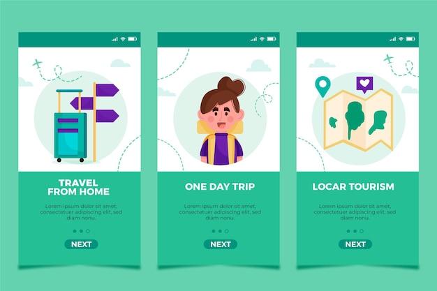 App-interface voor lokaal toerisme