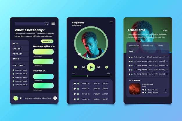 App-interface voor muziekspeler