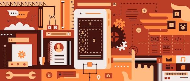 App-ontwerp voor mobiele telefoon