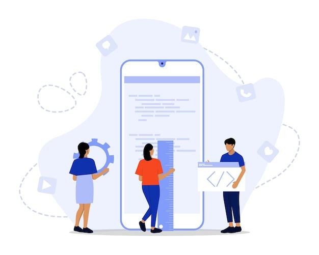 App ontwikkeling illustratie concept
