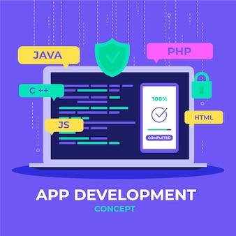 App ontwikkeling illustratie