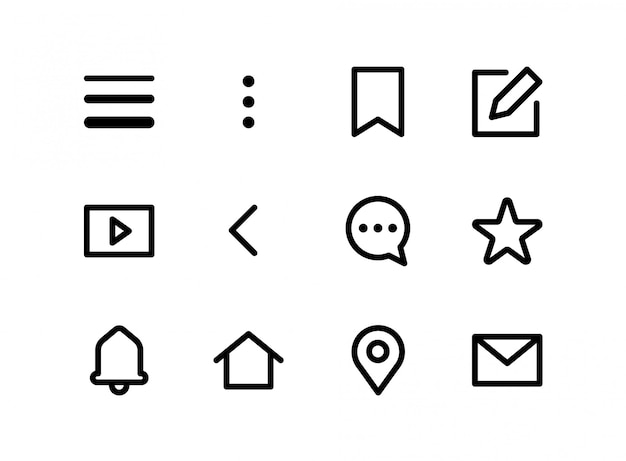 App pictogrammen instellen