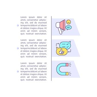 App promotie tips concept pictogram met tekst