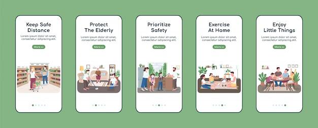 App-scherm voor quarantainemaatregelen