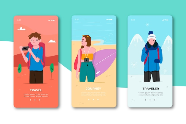 App-schermen voor reizen