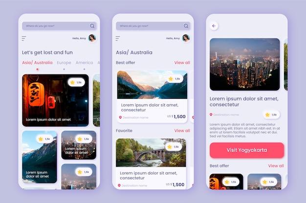 App-sjabloon voor het boeken van reizen