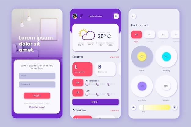 App-sjabloon voor slim huisbeheer