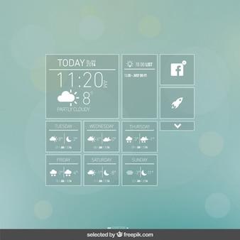App weerelementen