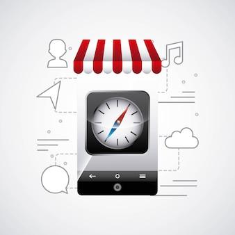 App winkel ontwerp vectorillustratie