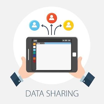 Apparaat met gebruikers voor het delen van gegevens en technologie