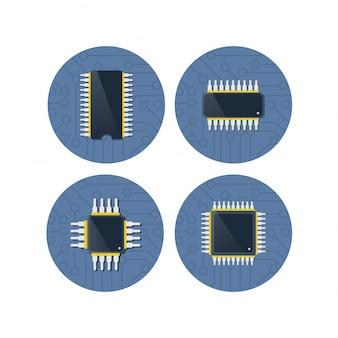 Apparaat van technologie elektronisch