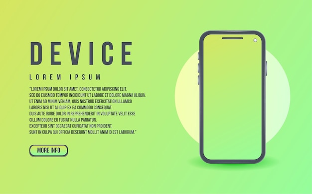 Apparaatscherm smartphone mockup realistisch