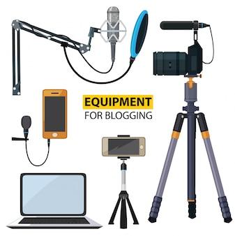 Apparatuur voor bloggen