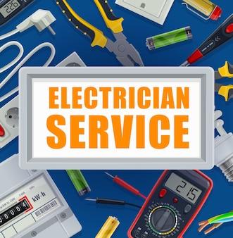 Apparatuur voor de elektrische energievoorziening, gereedschappen voor elektriciens