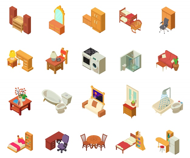 Appartement icon set