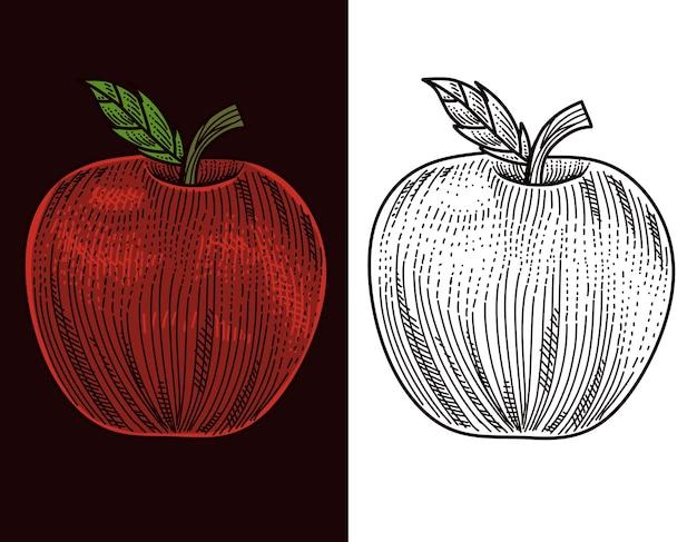 Appel fruit gravure