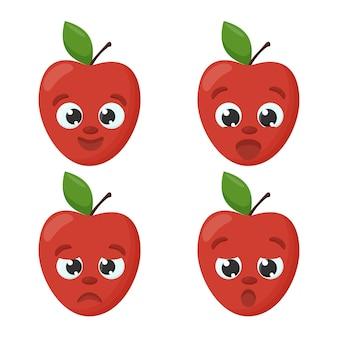 Apple emoji emoticon-collectie stripfiguren voor kinderen