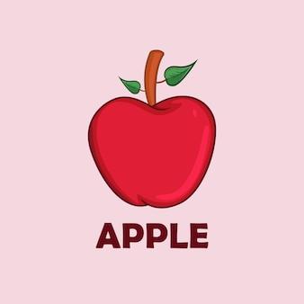 Apple fruit vector illustratie voor kinderen boek
