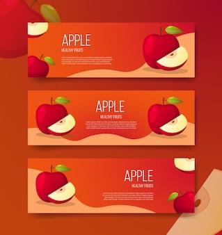 Apple gezond fruit voor sjabloonbanners