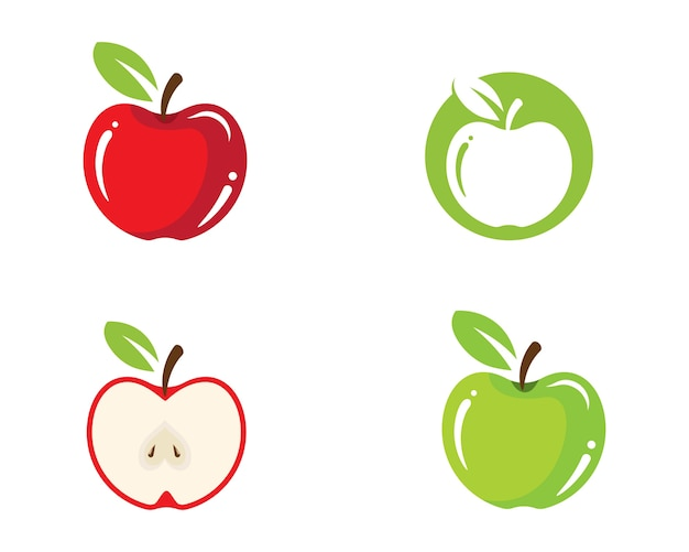 Apple illustratie ontwerp pictogram