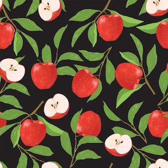 Apple naadloze digitale afbeelding patroon