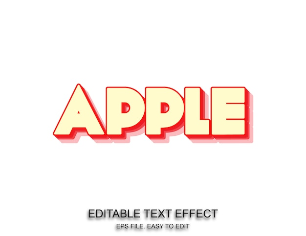 Apple tekst effect