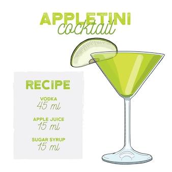 Appletini martini cocktail drink recept