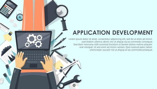 Applicatie en mobiele app ontwikkelingsconcept