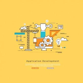 Applicatie-ontwikkeling achtergrond
