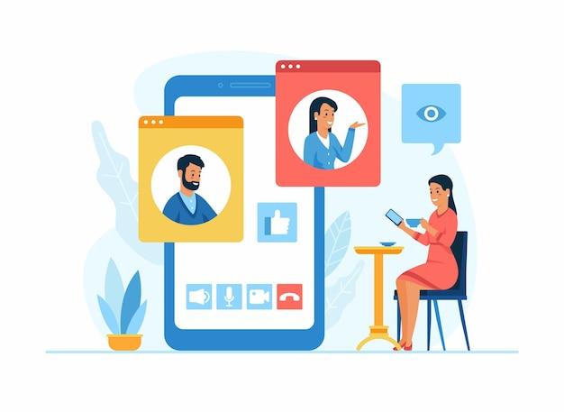 Applicatie voor videoconferenties