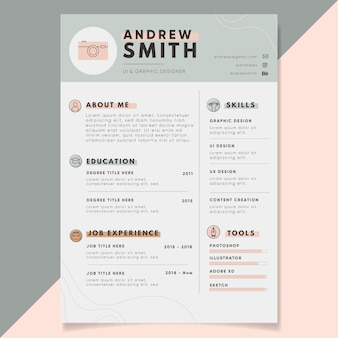 Applicatiesjablonen minimalistische stijl