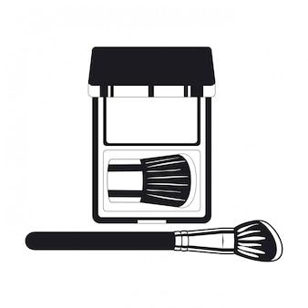 Applicator make-up dikke borstel en schaduwen
