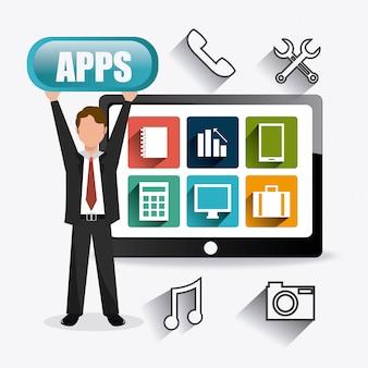 Apps marktontwerp.
