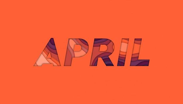 April achtergrond met papier gesneden vormen,