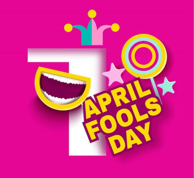 April dwaas dag cartoon stijl