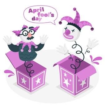April dwazen dag concept illustratie
