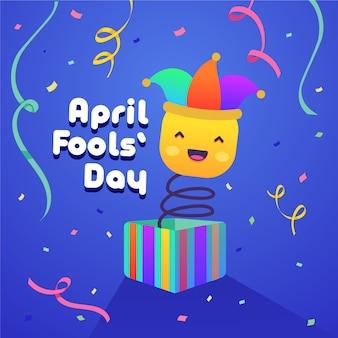 April dwazen dag concept van evenement