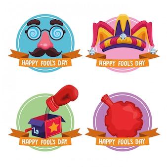 April dwazen dag emblemen
