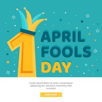 April dwazen dag en clownshoed