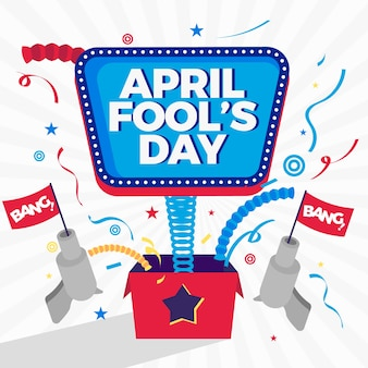 April dwazen dag evenement achtergrond